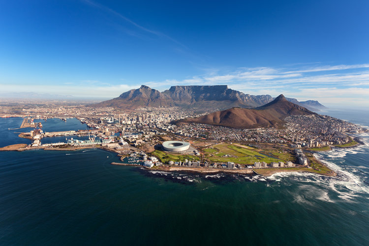 Aerial-Image-Of-CapeTown-Kaap-Cape-Table Mountain-Jan-van-Riebeeck-Cape-Town
