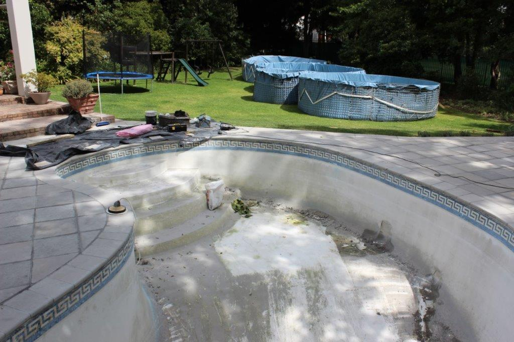 Constantia Pool Renovations Delaminated And Cracked Sections Of The Base Lining Were Cut Out And Replaced.
