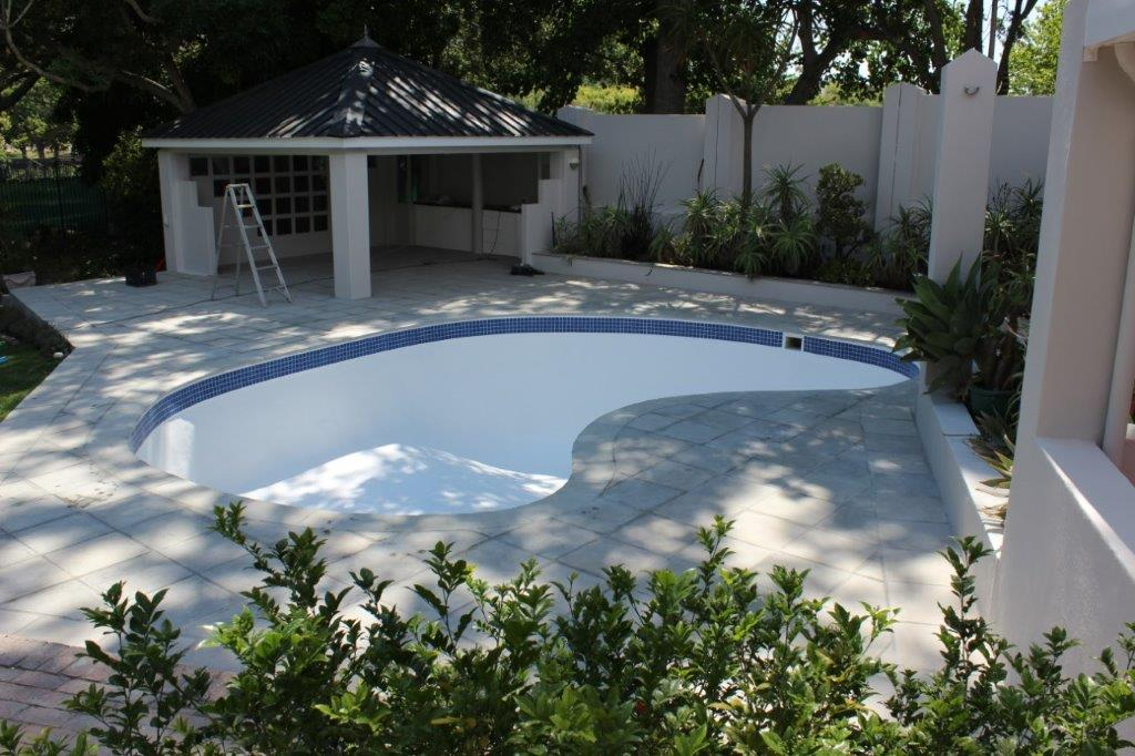 Constantia Top Finishing Coat Applied To The Entire Pool Surface.