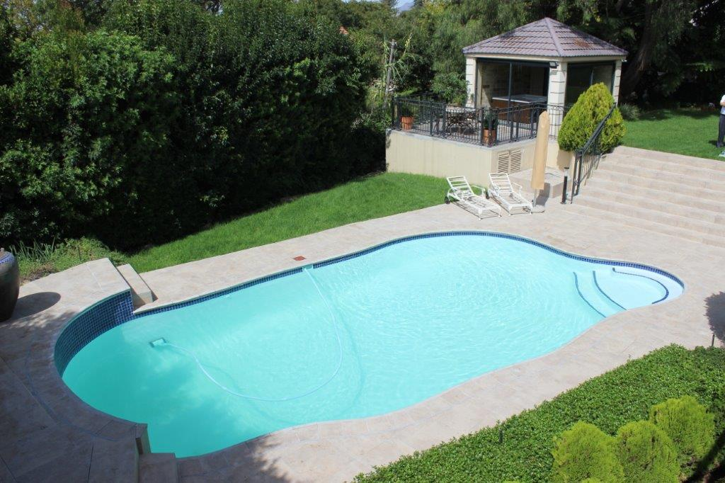 Trovato Estate Clean pool with new lining was finished with a final coating in white