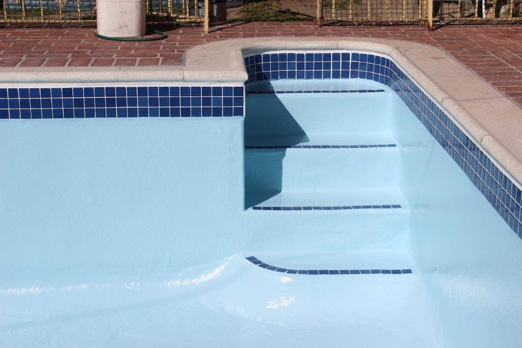 Pool Non Slip Application To Step Of Pool