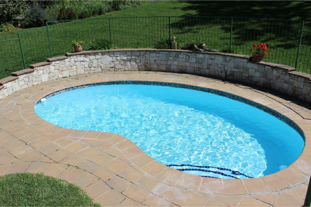 Constantia Small Pool Revocation Application of a fibreglass base-lining in light blue.