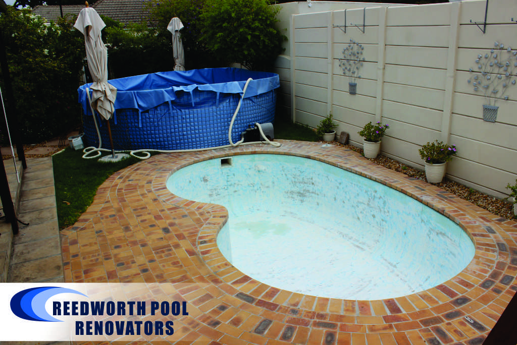 Small Pools, Claremont Renovation Sanding of pool surface area removal tissue mosaics